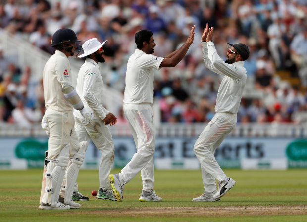 Ashwin leads India's charge