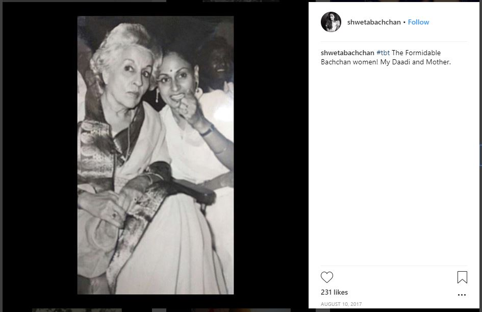 Bollywood: IN PICTURES: Amitabh Bachchan's daughter gives fans a peek into Bollywood's beloved family!