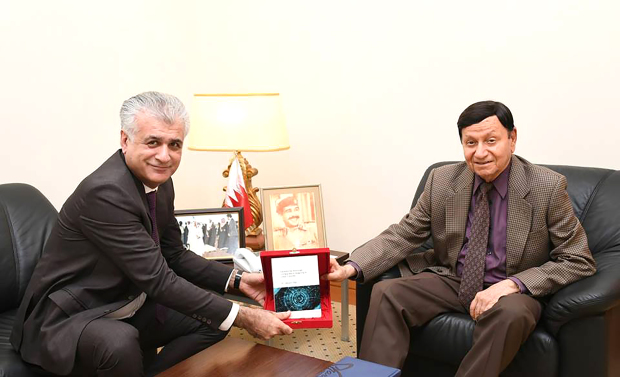 His Majesty King Hamad's adviser presented book on corporate culture