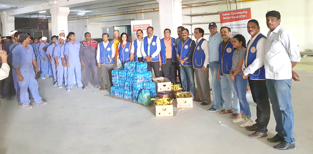 Indian Community Relief Fund distribute food and water to construction workers