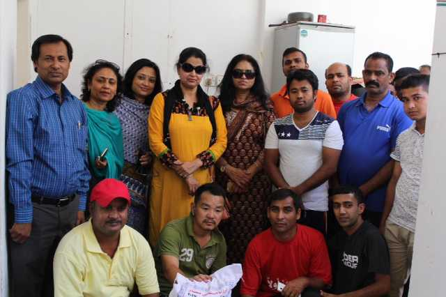 <p>Fifty needy workers at a labour camp in Ras Ruman were given dry rations by the Indian Ladies Association (ILA). Rice, lentils, sugar and oil were distributed as part of the Workers Welfare Project.</p>