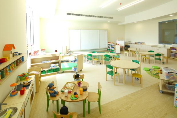<p>A kindergarten classroom of the new facility</p>