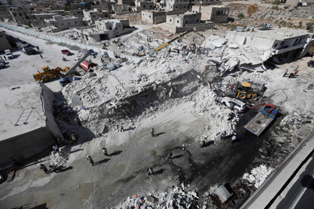 Children among 39 civilians dead in Syria arms depot blast