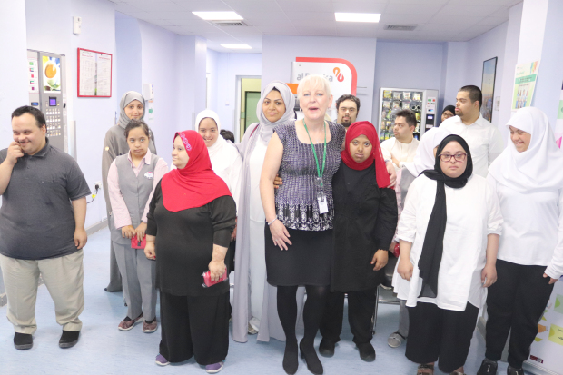 <p>Twenty children with Down Syndrome received a medical check-up organised by Yousif and Aysha Almoayyed Charity. The tests, which took place at the American Mission Hospital in Manama, included ear and teeth inspections along with other basic checks and necessary treatment in cases where required. Above, the children along with charity committee members Zahra Mohammed, standing, second from left, and Zahra Hamza, sixth from left, along with the children who took part in the medical check-up.</p>