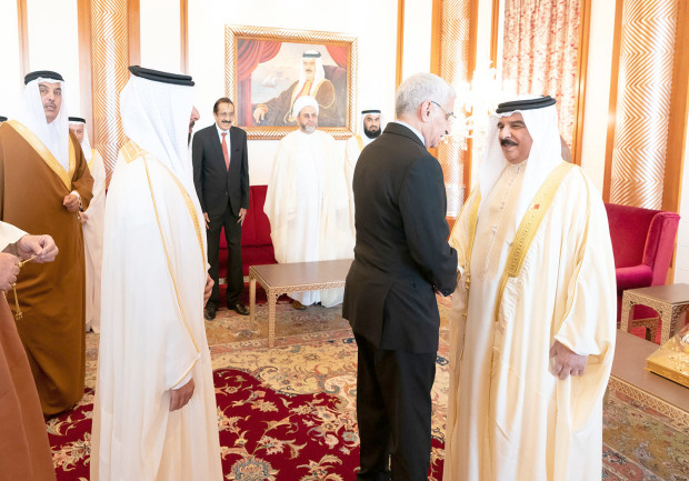 The King yesterday received at Safriya Palace Sunni Waqf (Endowment) Council chairman Dr Shaikh Rashid bin Mohammed Al Hajiri, Jaafari Waqf (Endowment) Council chairman Shaikh Muhsin Abdulhussain Al Asfoor and members of the two councils. Bahrain has always been a model to follow in tolerance and co-existence, His Majesty said.