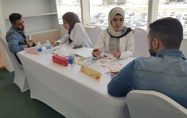 A medical camp was held for Eskan Bank employees in co-operation with the Health Ministry to create awareness about the early detection of non-communicable chronic diseases.  The campaign also highlighted risk factors of the diseases and the importance of adopting a healthy lifestyle to prevent diseases and reduce complications. Above, bank employees at the event.
