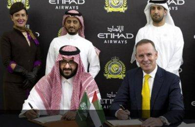 Etihad in deal to sponsor Saudi football club