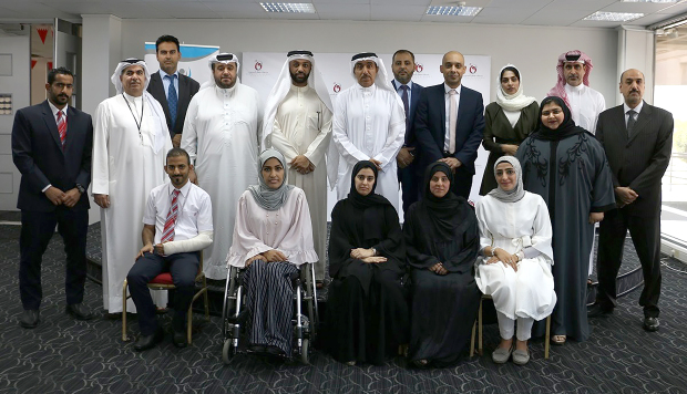 <p><em>BAS chief executive Salman Al Mahmeed, standing, sixth from left, with the employees and company officials.</em></p> <p>Thirteen Bahrain Airport Services (BAS) company employees were honoured for successfully completing a one-year specialised accounting and tax training course.</p> <div>The company said it has doubled the number of trainees compared with last year, as the total number of participants during the first half of this year was more than 2,800.</div> <div></div>