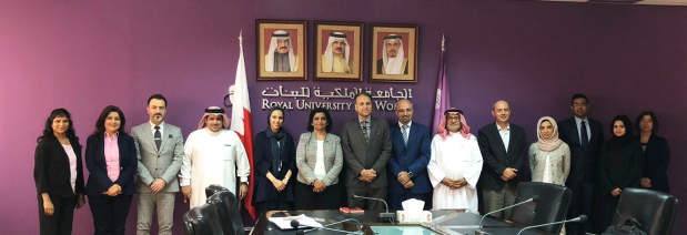 <p><em>RUW acting president Dr Mona Suri, sixth from left, along with RUW administrative directors, management and auditors</em></p> <p>The Royal University for Women (RUW) has successfully completed the ISO 9001:2015 second surveillance audit, showing no non-conformances for the fourth consecutive year.</p> <div>The audit was performed under the ISO 9001:2015 standard for the first time since the transition from the previous standard, ISO 9001:2008.</div> <div></div> <div>The audit was conducted by AJA Europe through four auditors who visited the RUW premises and was co-ordinated by the Quality Assurance and Accreditation Unit.</div> <p><em><br /></em></p>