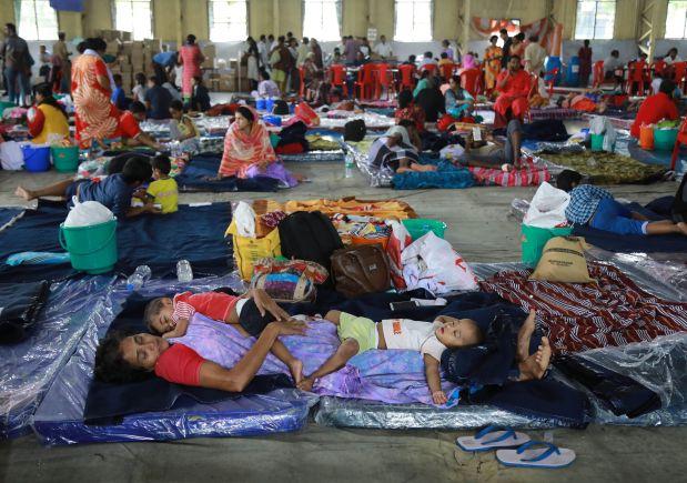 Rain abates in India's flood-hit Kerala, fears of disease in camps