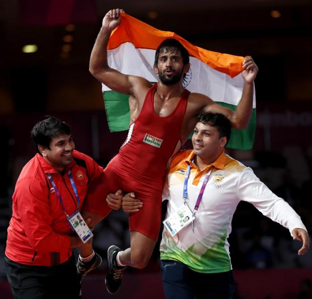 Asian Games: Wrestler Bajrang Punia wins India's first gold