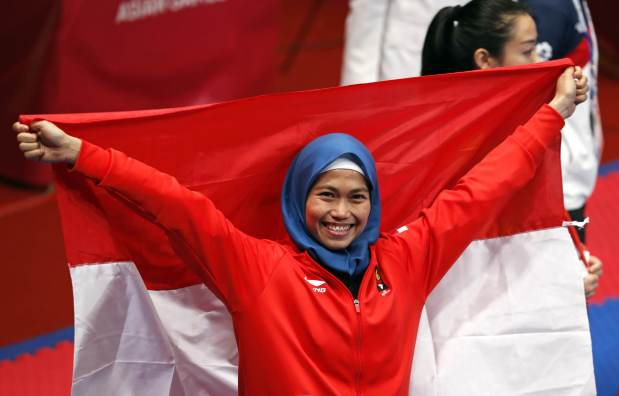 Asian Games: Rosmaniar wins Indonesia's first gold, and social media
