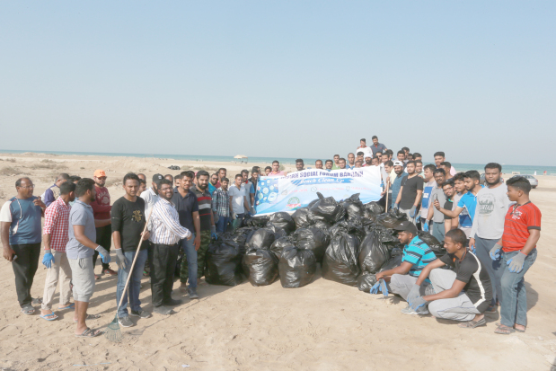 <p>A beach clean-up drive was organised by the Indian Social Forum Bahrain yesterday. Volunteers and members of the group visited beaches in Malkiya and Budaiya and collected trash from the areas. The event was held in co-operation with waste management company Urbaser to create awareness among public and ensure beaches are clean for the public especially during holidays. Above, members of the forum during the beach clean-up in Budaiya.</p>