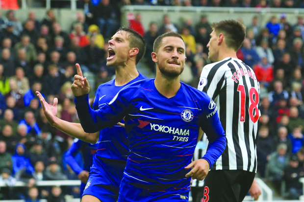 Football: Hazard scores in Chelsea win