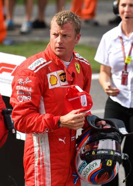 Italian Grand Prix: Record lap puts Ferrari's Raikkonen on pole