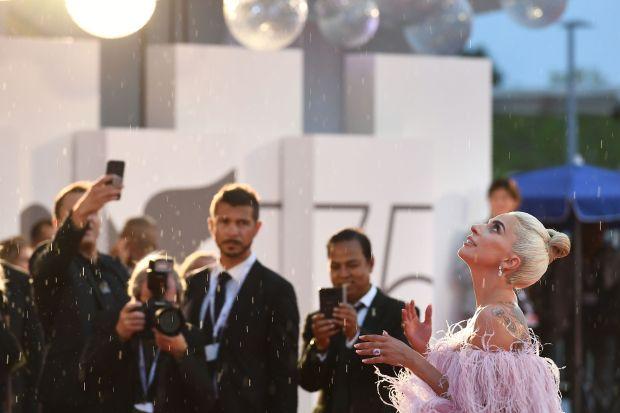 Thunderstorm halts Lady's Gaga's movie debut
