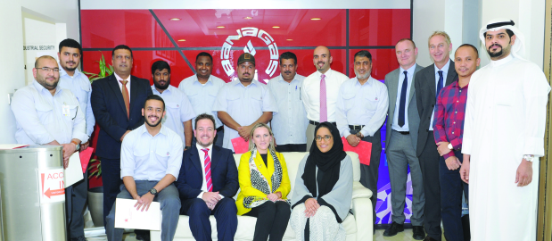 <p>Nine Banagas trainees have successfully completed a course on 'Effective Warehouse Operation' organised by Bahrain Polytechnic. It was presented by Efce van Heerden and Lorraine Cowley from the polytechnic's logistics and maritime programme. The course counts as a single unit module from the Chartered Institute of Logistics and Transport for which a unit certificate is given upon successfully passing the assessment.</p>