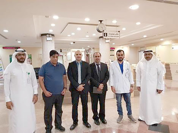 <p>A delegation from the Health Ministry is in Riyadh to check on the conditions of eight Bahrainis injured in a car crash last week. Two people from the same family died in the crash that happened last Wednesday in Al Quwayiyah. Two others who were injured have already returned to Bahrain after their health condition stabilised. Seven members of the family, who were injured, are receiving treatment at Al Shumaisi Hospital and Imam Abdulrahman Al Faisal Hospital in Riyadh, while one woman is being treated at the Al Quwayiyah Hospital and will be transferred to Riyadh soon. The Health Ministry said in a statement that the delegation was following up on the health conditions of all of them. Above, the medical team in Riyadh.</p>