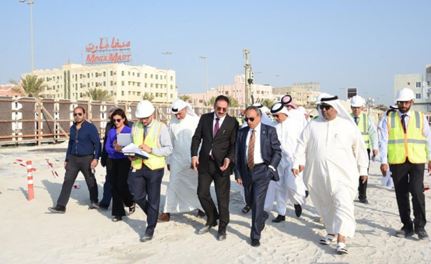 <p>Works, Municipalities Affairs and Urban Planning Minister Essam Khalaf yesterday visited the Sa'ada project in Muharraq and inspected the progress of work. He was accompanied by Edamah chairman Khalid Al Rumaihi, chief executive Amin Al Arayedh and other officials. Phase one of the project will provide a dynamic, fully-accessible public waterfront with shaded terraces and parking. There will be seven buildings for lease which will house food outlets, kiosks, a multi-storey carpark and other supporting facilities. Construction work on phase one of the project commenced in July. Work is on track and the project is expected to be completed by next year end, Mr Khalaf said.</p>