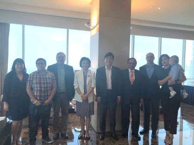 <p>A celebration of Korean cuisine was held yesterday at the Diplomat Radisson Blu Hotel, Residence and Spa as two master chefs visit Bahrain to share their knowledge.</p><p>Organised by the Korean Embassy in co-ordination with the hotel, the 2018 Korean Cuisine Week, which began on Monday, features cooking classes, a food exhibition and a brunch.</p><p>Eleven dishes were available for guests to try at the hotel's brunch yesterday.</p><p>Korean food lovers enjoyed a variety of food such as Hobakjuk (pumpkin porridge), Oinaengguk (chilled cucumber soup), Japchae (stir-fried glass noodles and vegetables), Bibimbap and many other delicacies.</p><p>Above, Philippines Ambassador Alfonso Ver, third from left, Korean Ambassador Koo Hyun-Mo, fifth from left, his wife Kang Jina, fourth from left, and Nepalese Ambassador Padam Sundas, sixth from left, with other officials and guests</p>