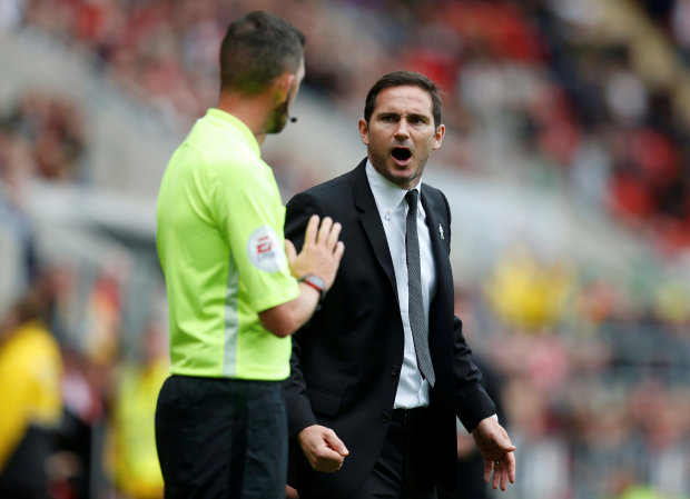 Derby boss Lampard hit with FA charge after sending off