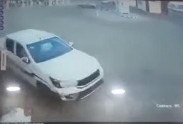 VIDEO: Reckless driver loses control while drifting and runs over man
