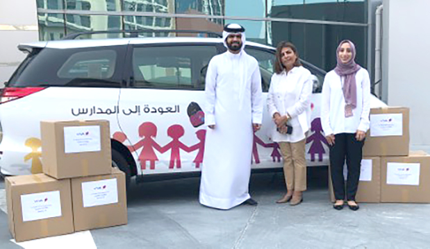 <p>VIVA Bahrain has organised its annual 'Back to School' project for the fifth consecutive year. The telecom operator will be preparing orphans registered with the Royal Charity Organisation (RCO) for the new school year by donating new backpacks filled with supplies including notebooks and stationery items. Above, VIVA Bahrain officials handing over the supplies to RCO.</p>