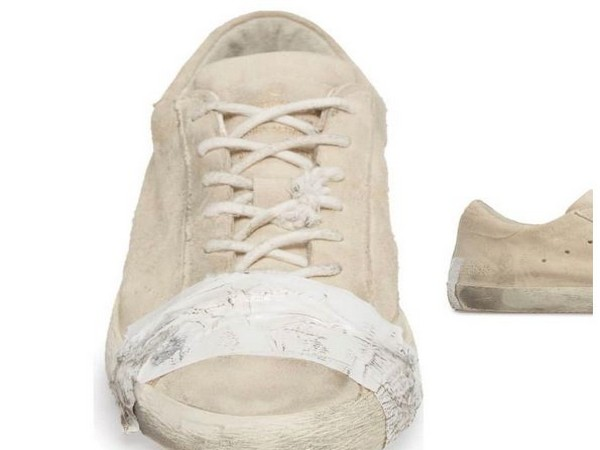 Expensive taped sneakers trigger outrage for glorifying poverty