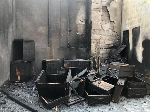 Bilad Al Qadeem warehouse gutted in blaze