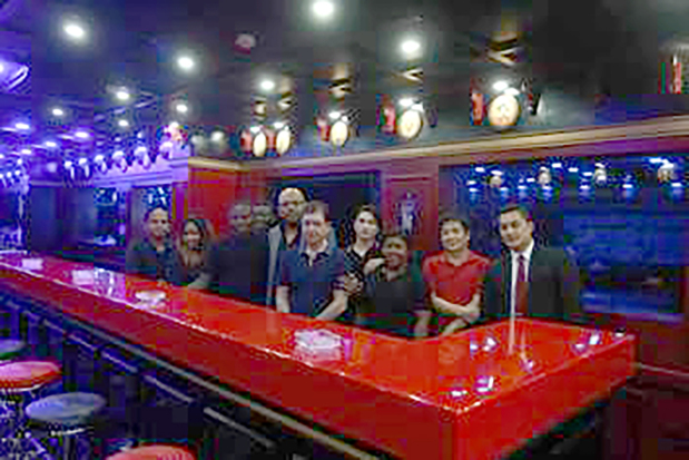 <p><em>Guests and staff at the opening.</em></p> <p>Dusse, a new bar, was opened at the Monte Rosa Restaurant in Adliya last night.</p> <div>The opening of the revamped bar was held in the presence of guests and staff.</div> <div></div> <div></div>