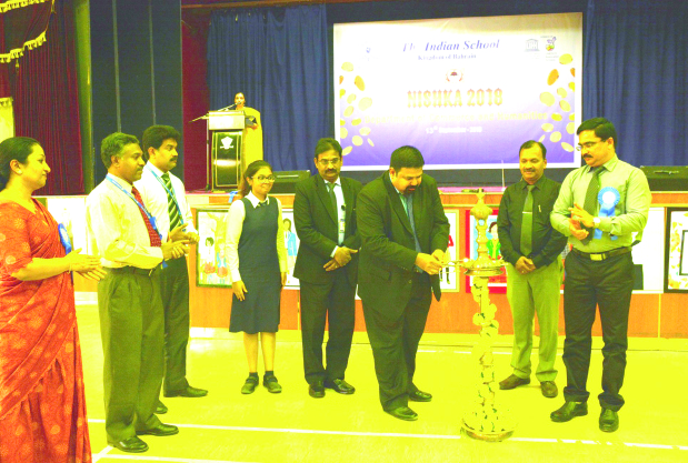<p><em>Mr Ajayakrishnan lights the traditional lamp at the start of the event</em></p><p>Students' creativity and intellect were put to the test as the Indian School Bahrain (ISB) celebrated Nishka 2018, an annual event of the commerce and humanities department, at the Isa Town campus. </p><div>The contest was inaugurated by executive committee health and environment member V Ajayakrishnan in the presence of principal V R Palaniswamy, staff representative Johnson Devassy and vice-principals. Senior secondary students took part in quiz and debate competitions, and winners were awarded prizes. </div>