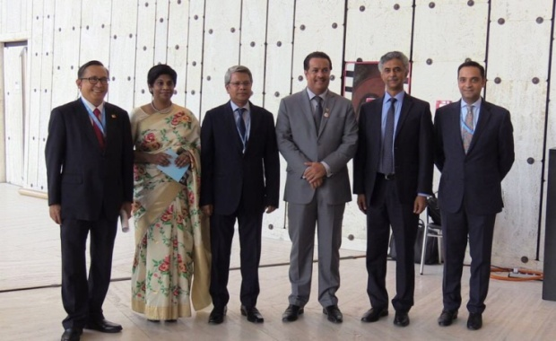 <p>Assistant Foreign Minister Abdulla Al Doseri attended a reception hosted by Bahrain's Permanent Mission to the UN office in Geneva.</p> <div>It was held in partnership with the candidate countries for the membership of the Human Rights Council for 2019-2021 for the Asia-Pacific Group, namely India, Fiji, Bangladesh, and the Philippines.</div> <div></div> <div>Bahrain's record and achievements in the field of human rights and its voluntary pledges to continue the reform process at all levels were reviewed.</div> <div></div> <div>Officials also presented the kingdom's visions and objectives as a member of the rights council.</div>