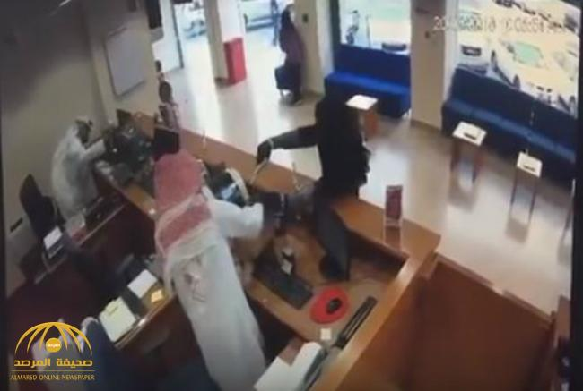 VIDEO: Suspected Gulf Bank branch robber arrested