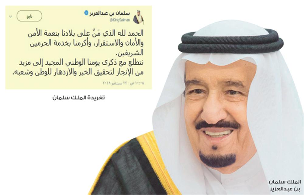 Saudi King Tweets on National Day