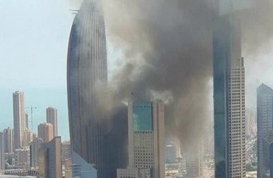 Fire hits National Bank of Kuwait HQ tower