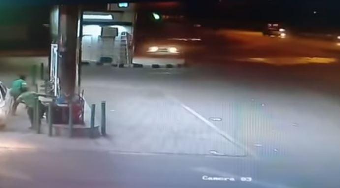 Video: Saudi man rams car into coffee kiosk