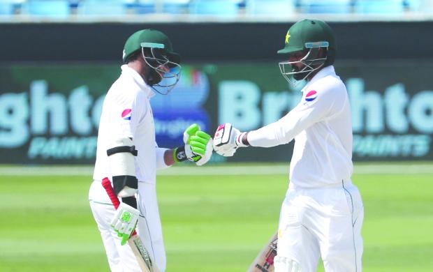 Hafeez ton puts Pakistan on top