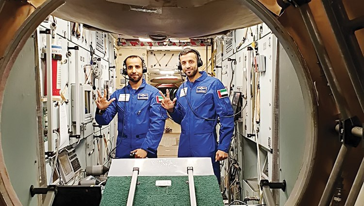 Emiratis undergoing training ahead of first space mission