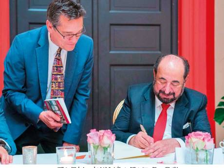 Sharjah ruler signs latest novel at Frankfurt Book Fair