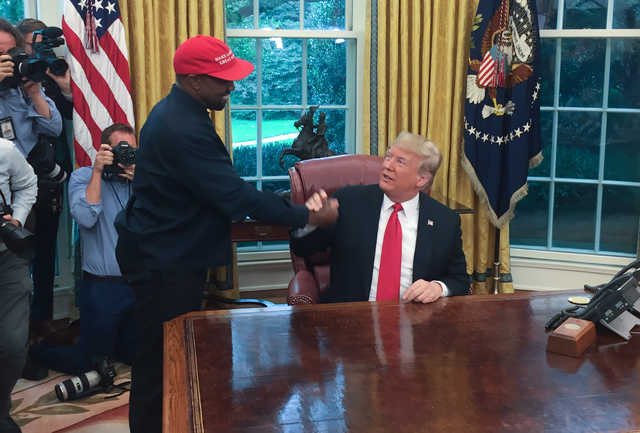 PHOTOS: Trump, Kanye West discuss N Korea, gun control