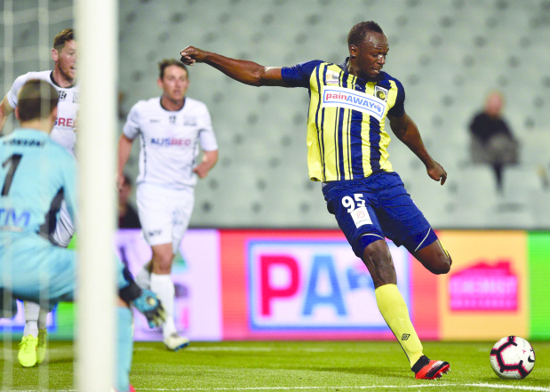 Bolt scores a brace to boost his soccer career