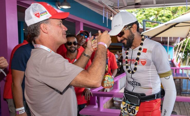 World Champion: Shaikh Nasser races to victory in Hawaii Ironman