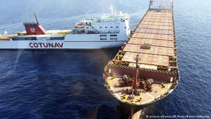 Tunisian ferry crew arrested after collision with a container ship