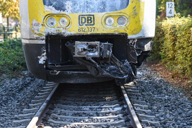 At least 16 injured in German train collision say firefighters