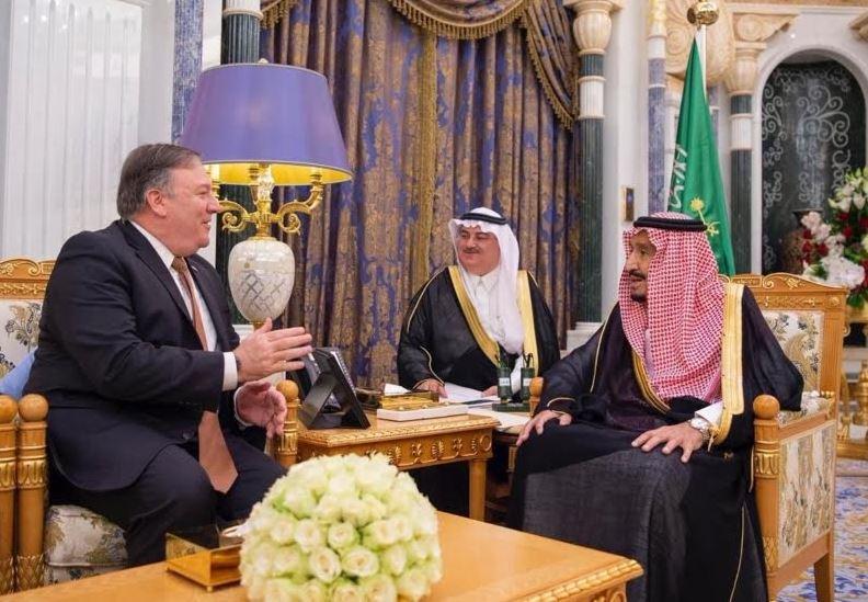 Saudi King receives US Secretary of State Mike Pompeo