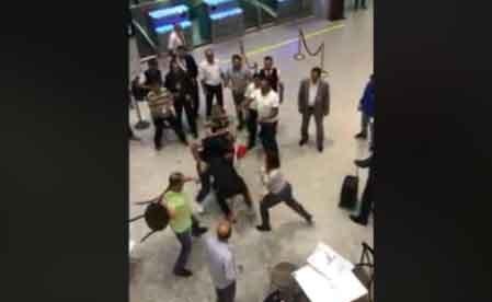 WATCH: Violent brawl at Tunis' Carthage International Airport