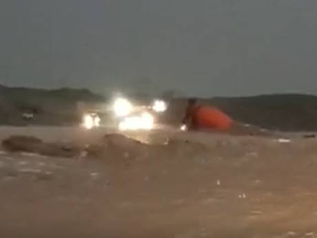 WATCH: Vehicle swept away during UAE flash flood