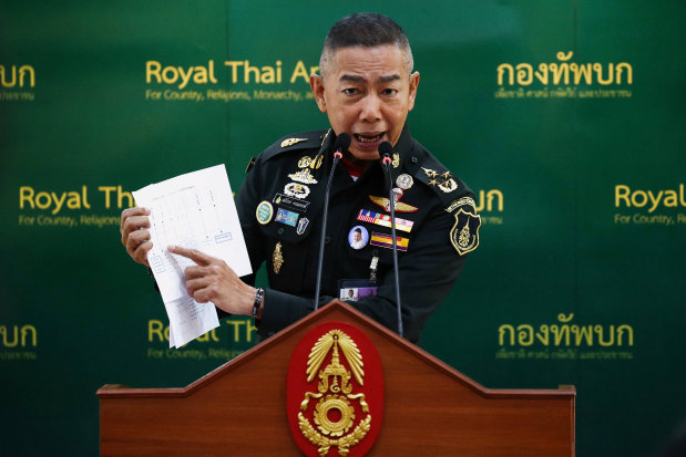 Thai army chief says no need to intervene if politics stable