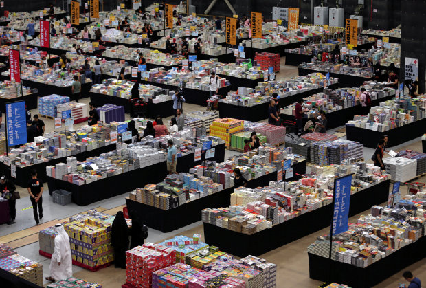 PICTURES: 'World's largest book sale' comes to Middle East at giant hangar in Dubai