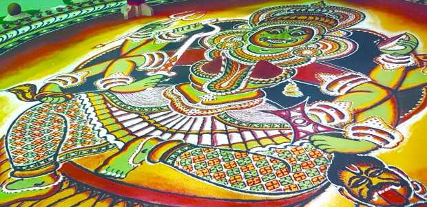VIDEO: A colourful temple art tradition comes to life